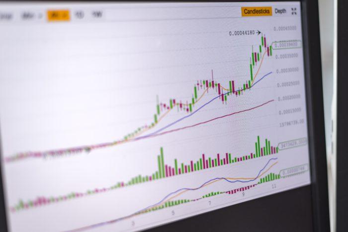 Graphique d'évolution marché boursier